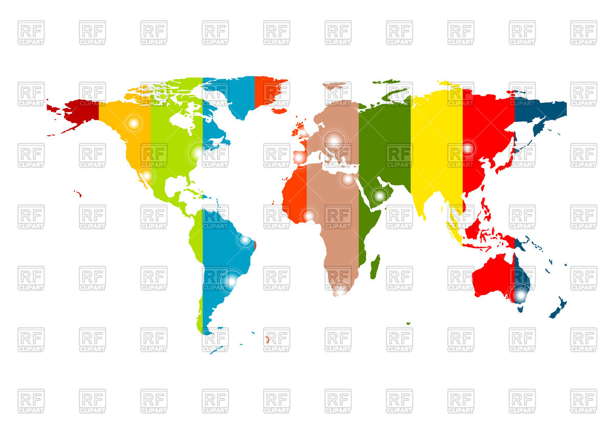 Colorful abstract world map background Vector Image #77683.