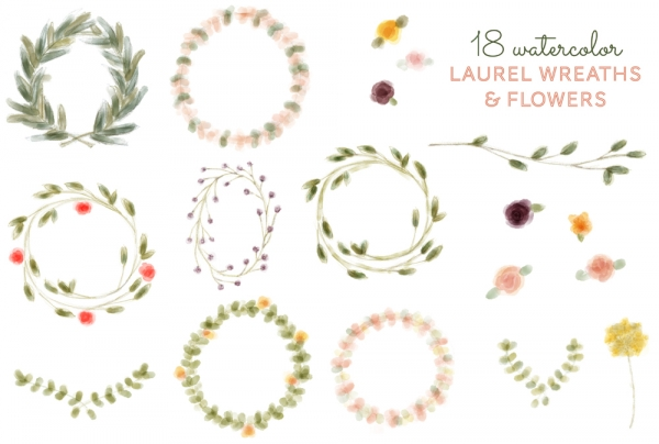 Free laurel wreath clipart 4 » Clipart Station.