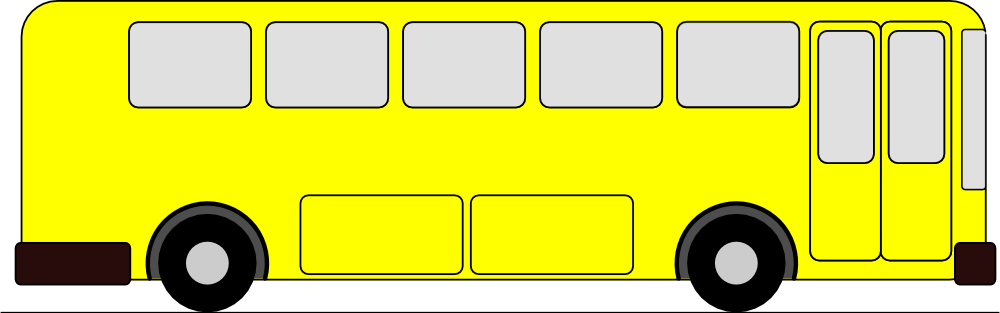 Free Yellow Bus Clipart Image.