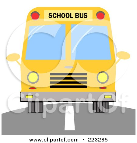 Clipart Happy School Bus Driver And Children.