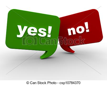 Yes or no Illustrations and Clip Art. 7,200 Yes or no royalty free.