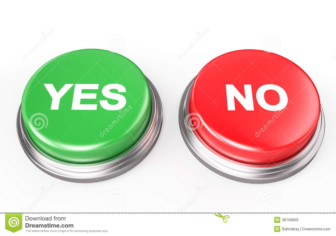 Yes No Test Clipart.