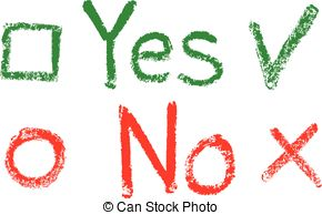 Yes No Clipart.