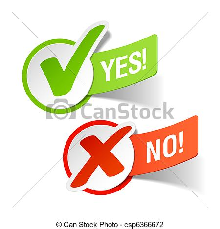 Free Clipart Images Yes And No.