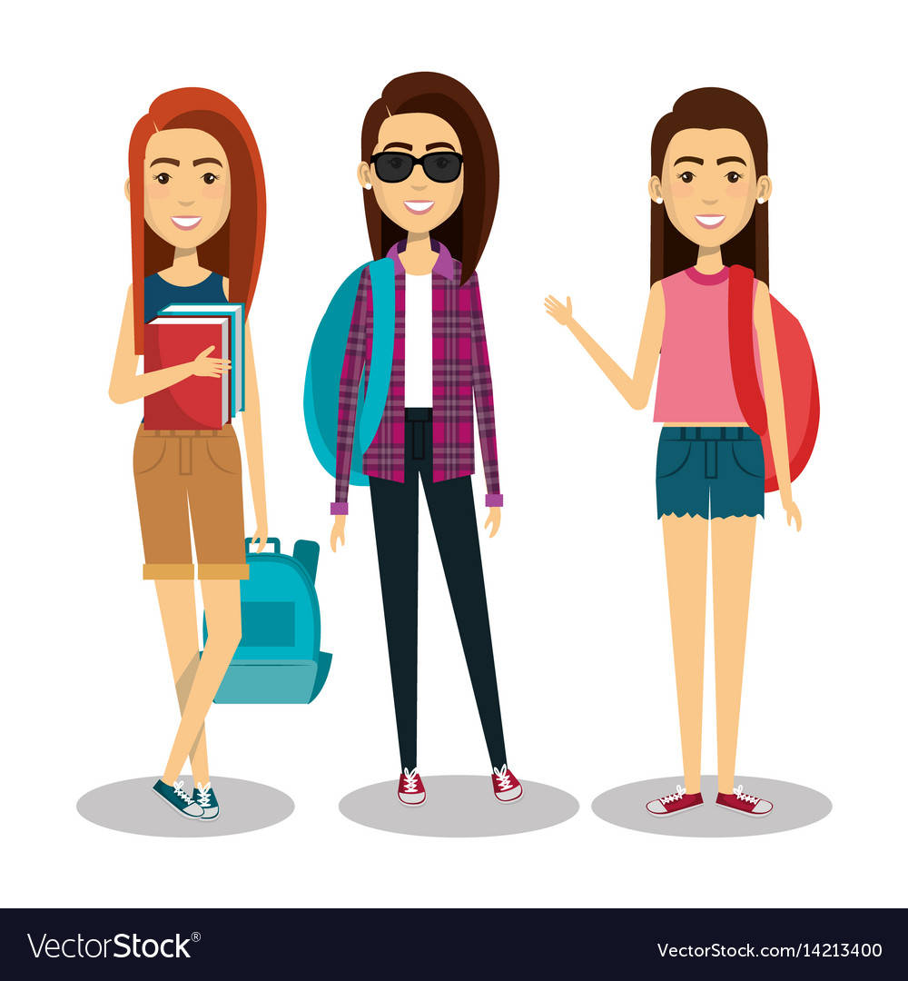 Young people style characters.