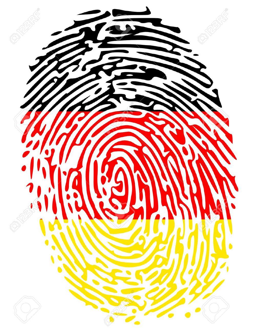 Thumbprint Flag Colors Of Germany Royalty Free Cliparts, Vectors.