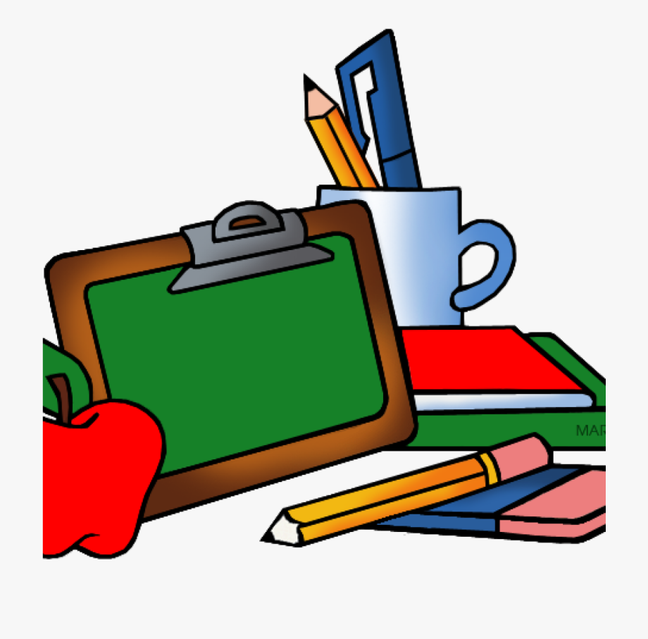 Black And White School Supplies Clipart Free.