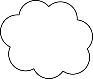 Cloud Outline Clipart.