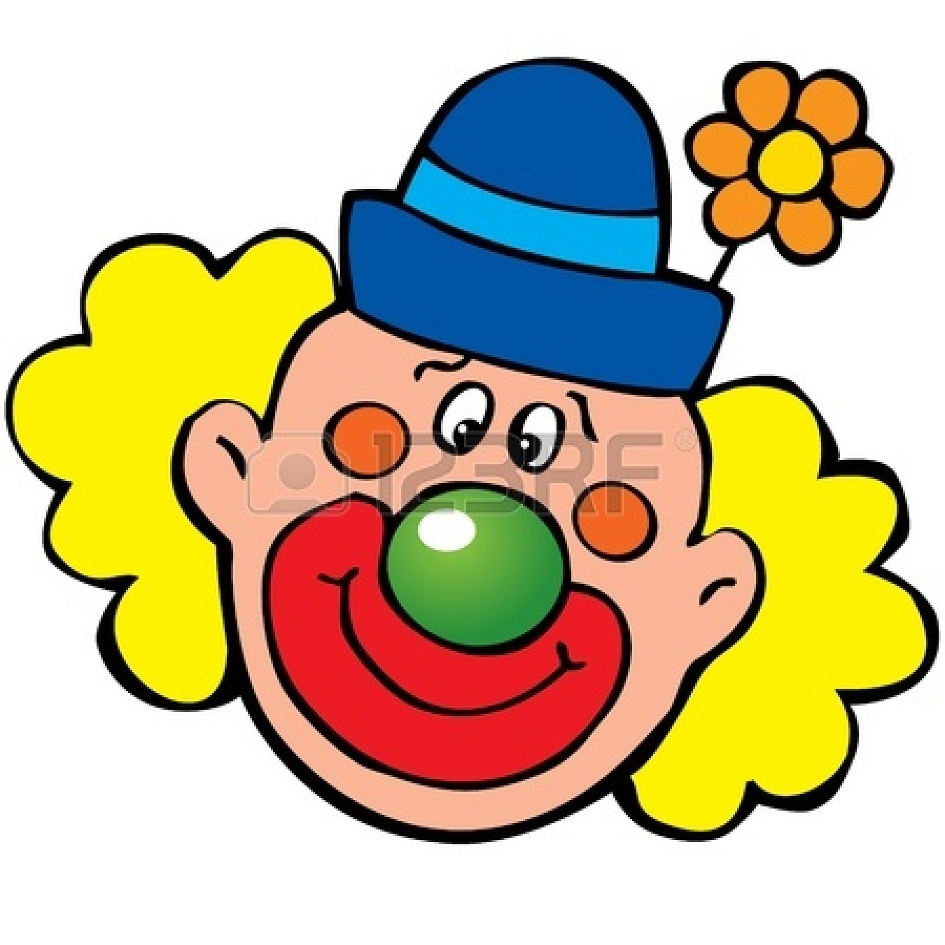 Clown Clipart Face.