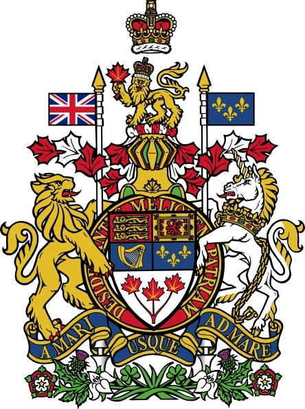 Coat Of Arms Of Canada clip art Free vector in Open office.