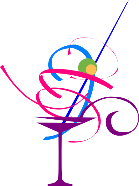 free clipart of a cocktail.