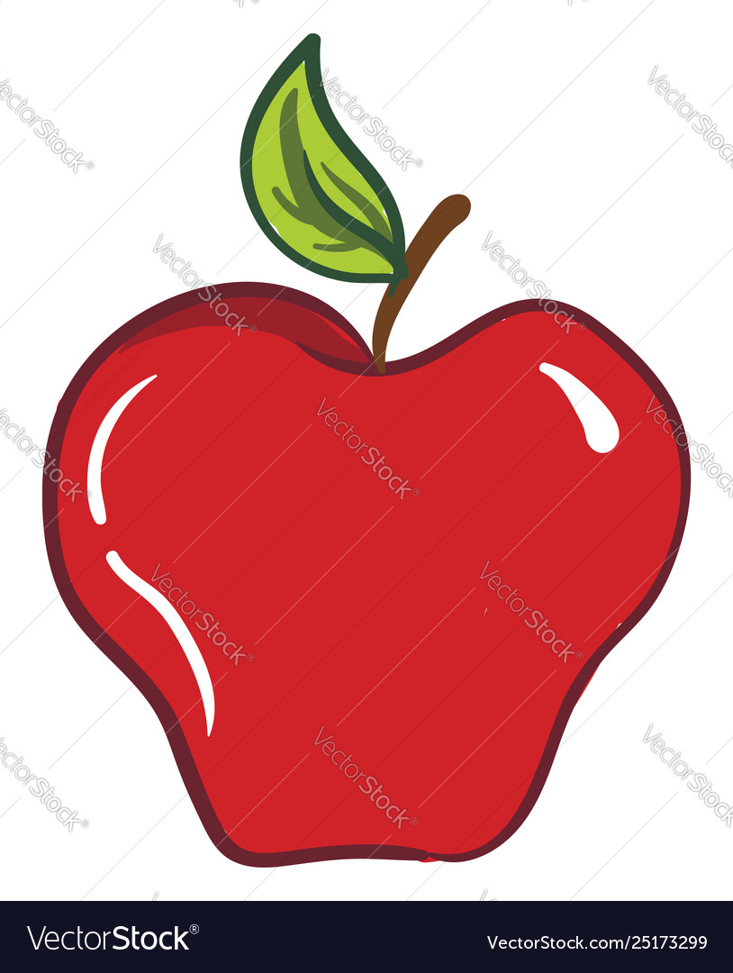 Clipart an apple fruit or color.