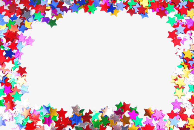 Colored stars border clip PNG clipart.