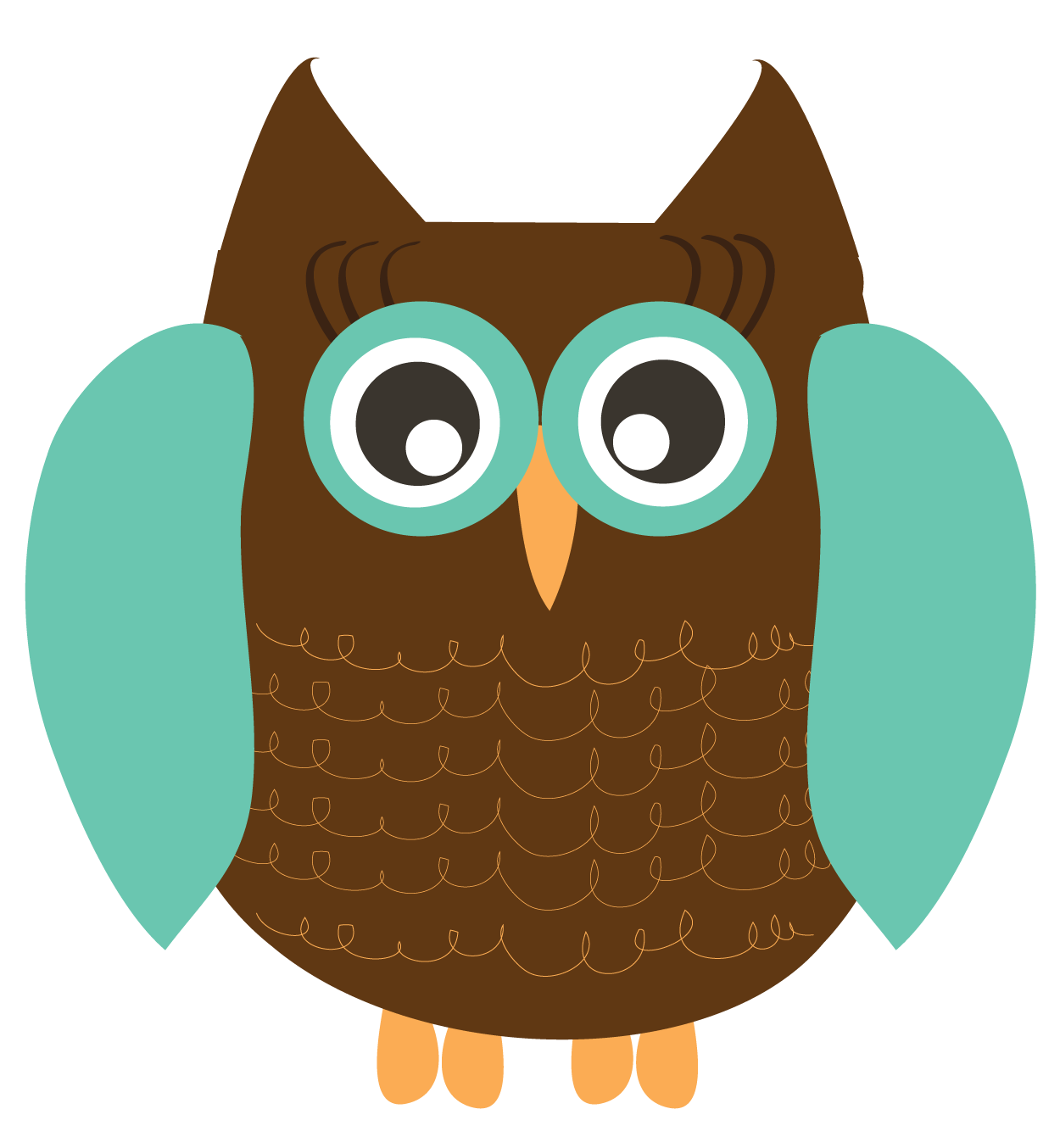 Free colorful owl clipart.