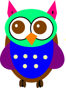 Colorful Baby Owl Clip Art at Clker.com.