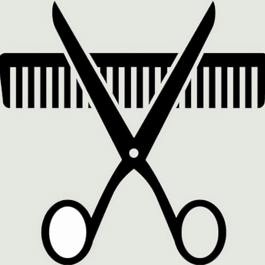 Scissors and comb clip art.