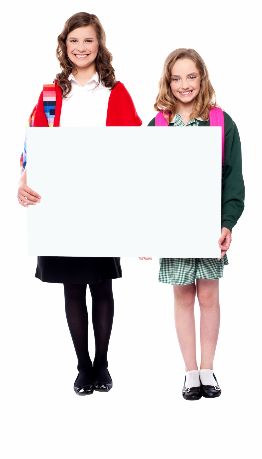 People Holding Banner Free Commercial Use Png Image.