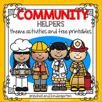 Community Helpers theme activities and printables for preschool and.