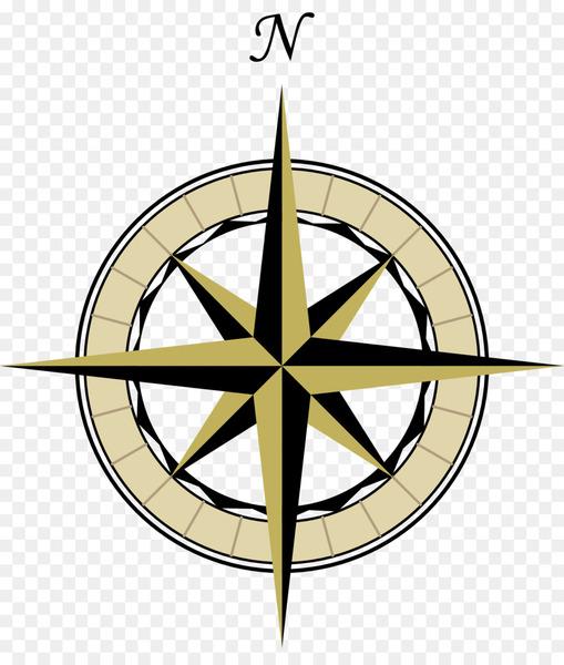 North Compass rose Map Clip art.