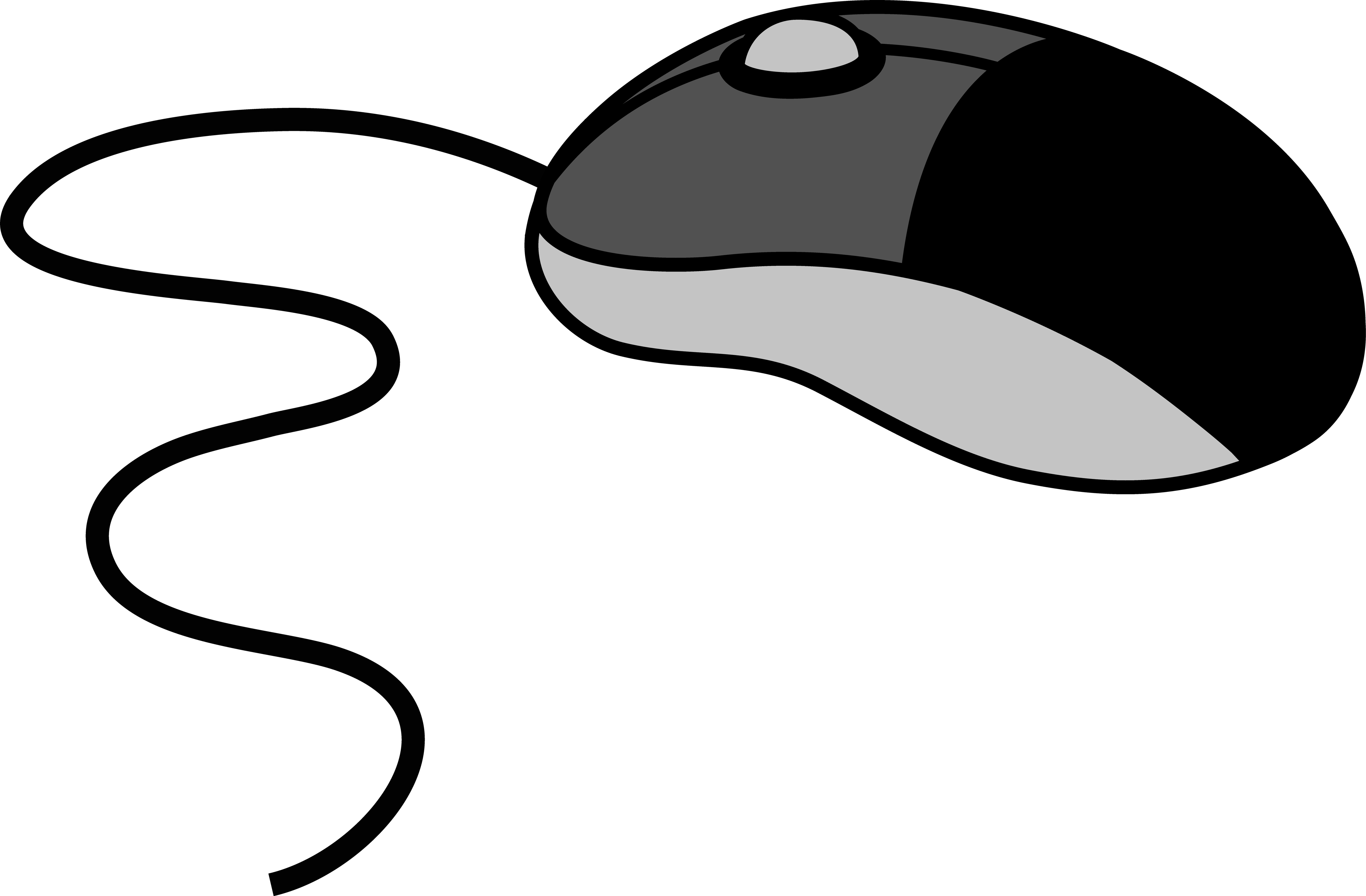 Gray Computer Mouse.