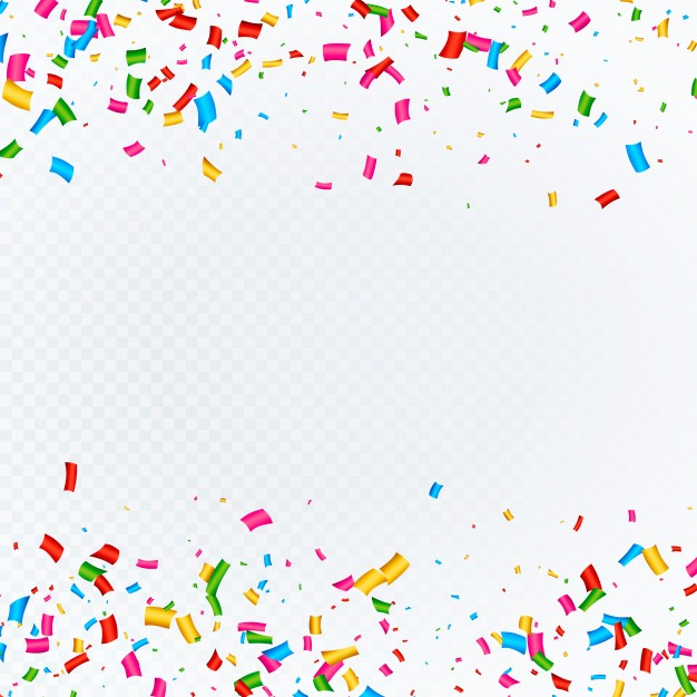 Confetti background with space Vector.