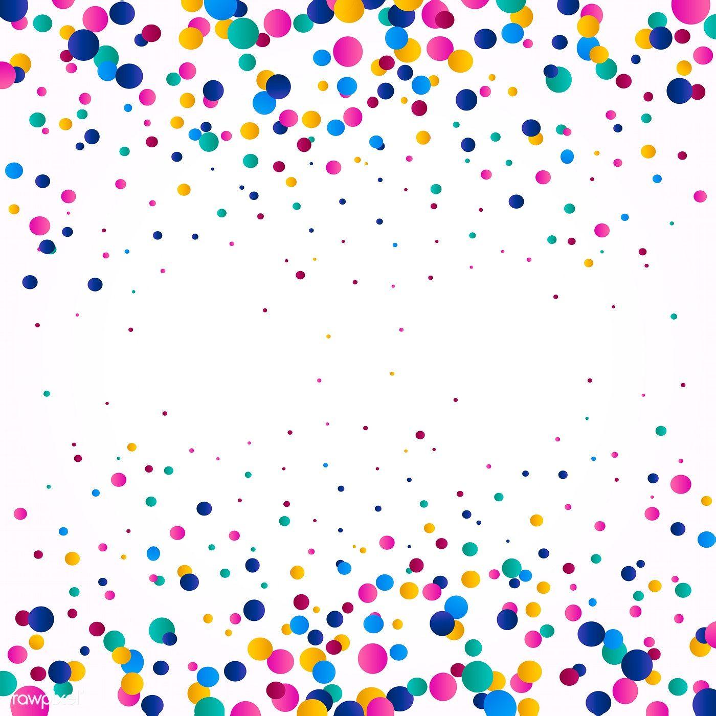 Colorful confetti background explosion vector.