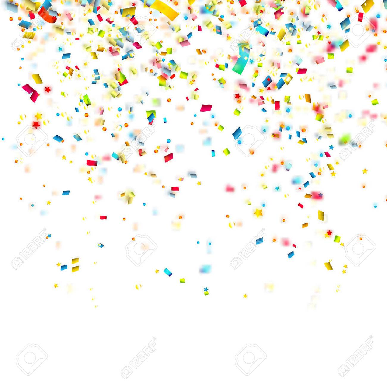 Birthday background with colorful confetti.