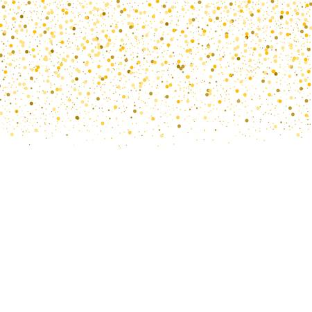 Vector Gold Confetti Border. Royalty Free Cliparts, Vectors, And.