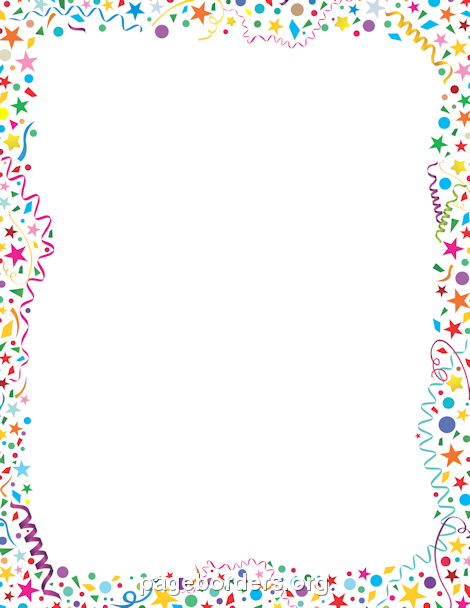 DIRECTLY FROM SITE>> Confetti Border.