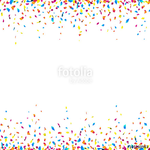 Celebration background with colorful confetti.