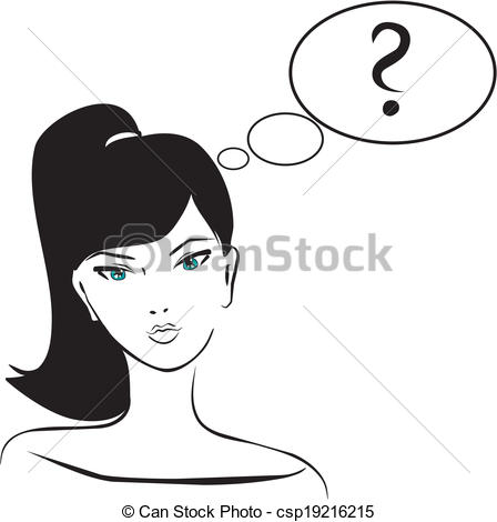 Woman Confused Clipart.