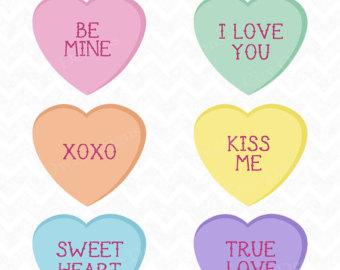 Candy heart clipart.