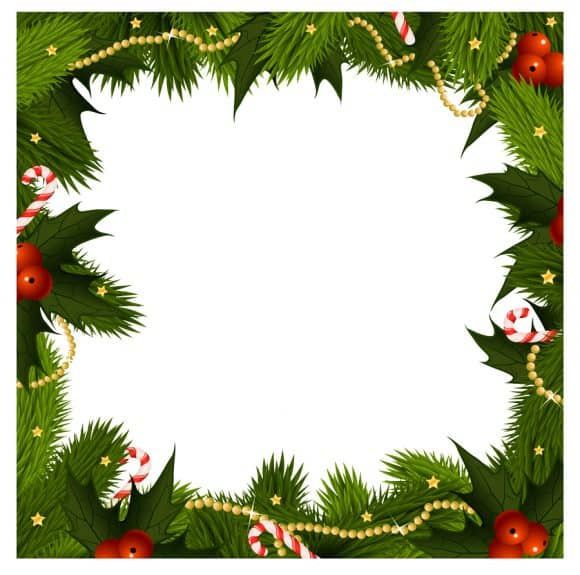 40+ FREE Christmas Borders and Frames.