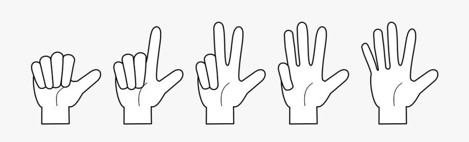 Hand, Counting, Fingers, One, Two, Three.