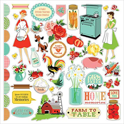 Amazon.com: Country Kitchen Cardstock Stickers 12\