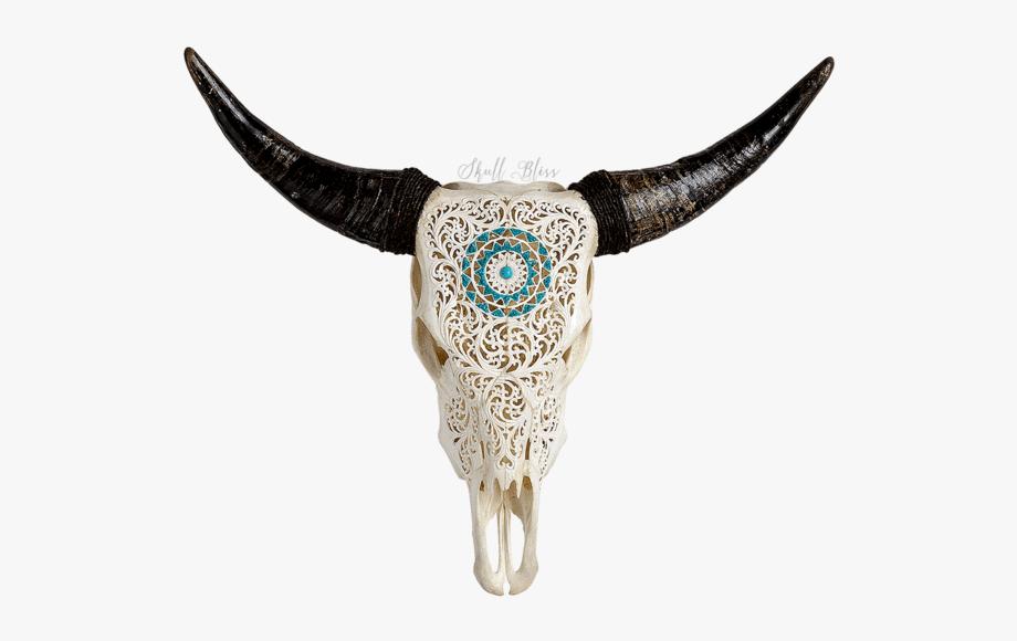 Clip Art Bull Head Skulls.