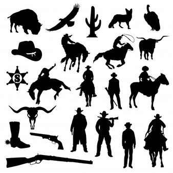 Cowboy Silhouette Vectors, Photos and PSD files.