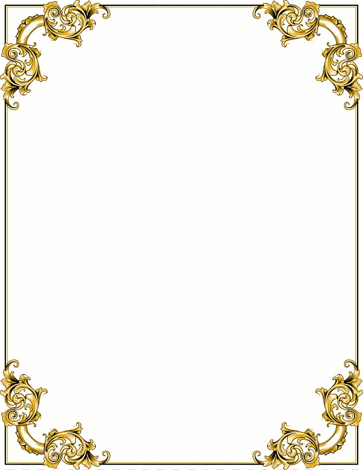 Baroque Ornament Gold frame , Cross Borders s PNG clipart.
