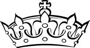 crown clip art black and white.