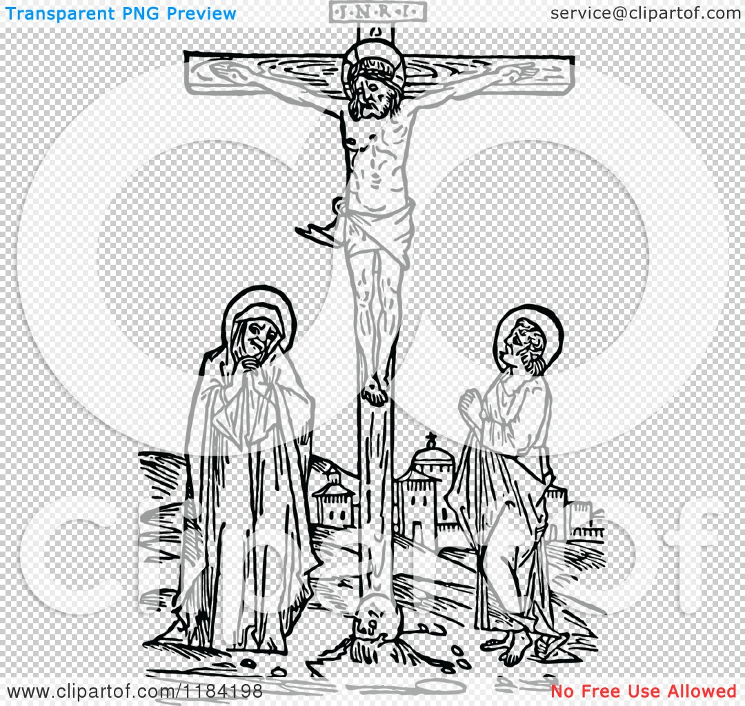 Clip Art of Jesus Christ Crucified.