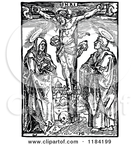 Free Clip Art of the Crucifixion of Jesus.