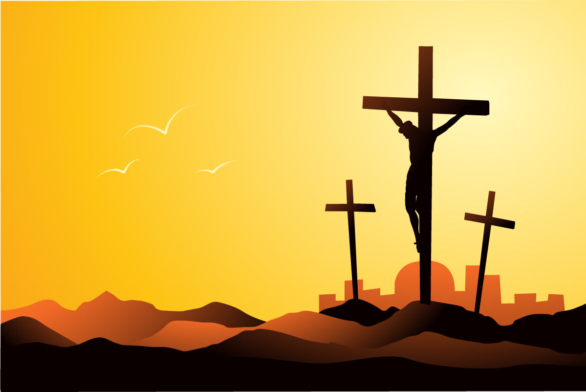 Clip Art of Jesus Being Crucified.