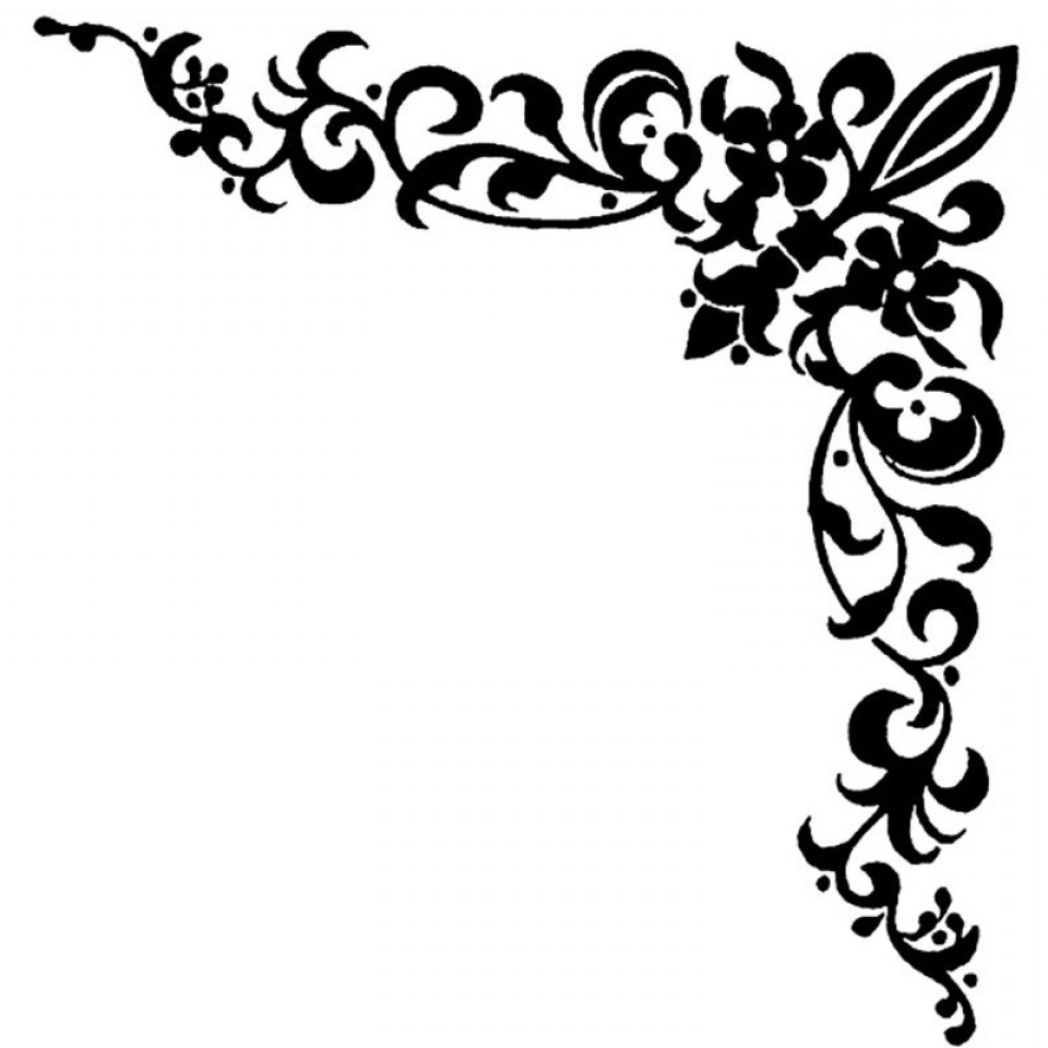 Clip Art Black Background With White Curly Cues Cliparts Free.