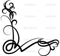 Curly Cues Clipart.