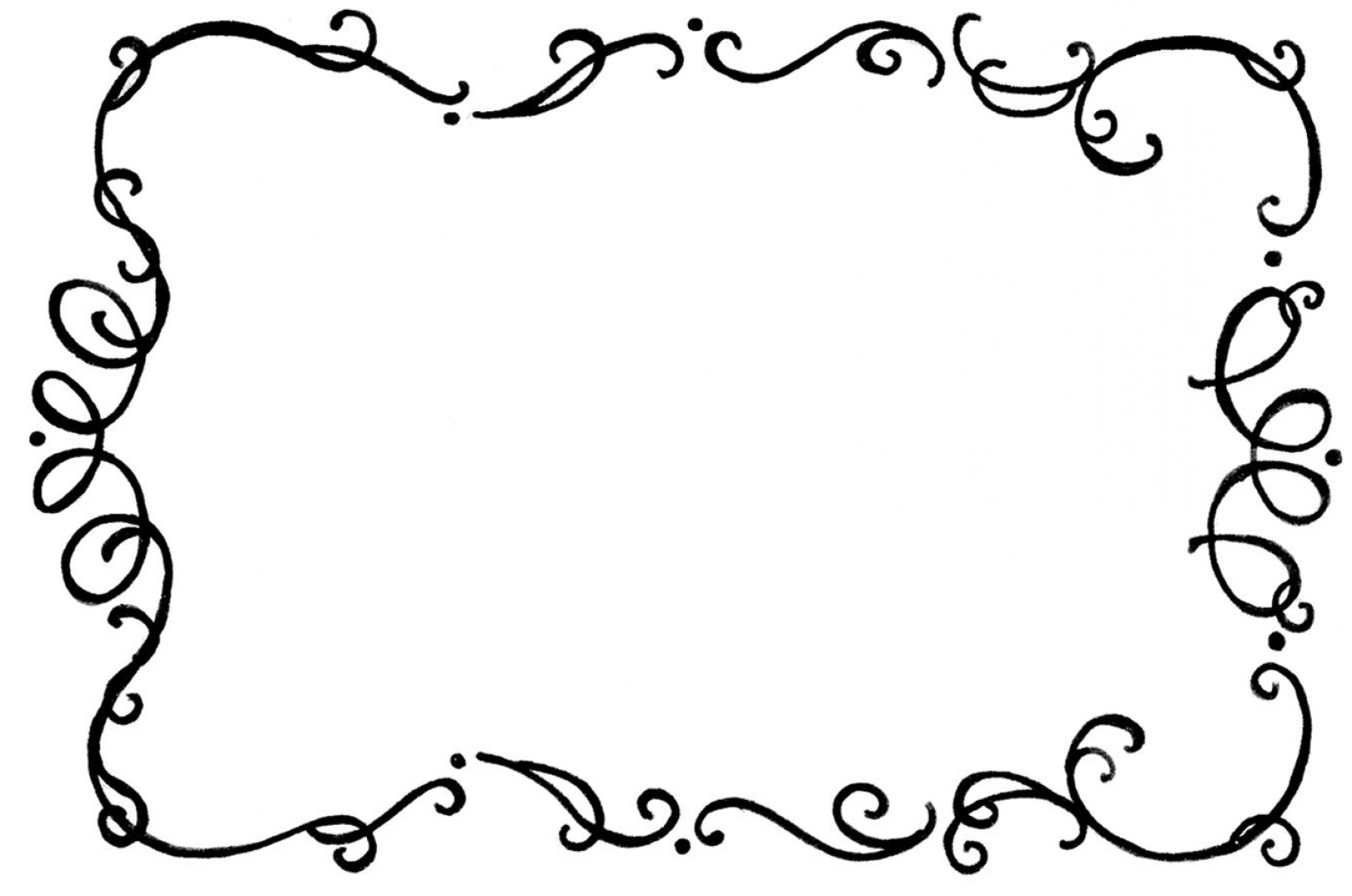 Free Curly Cue Vector Black Corner Layout.