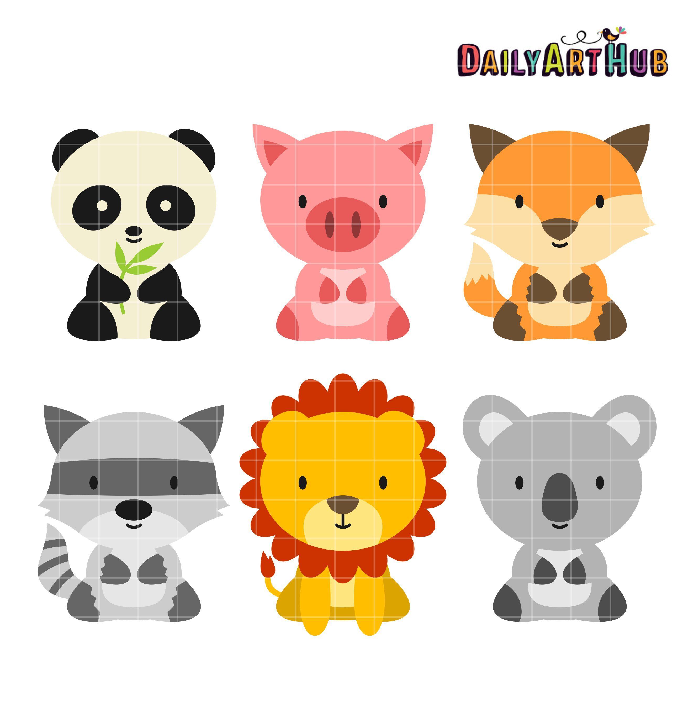 Baby Animals Clip Art Set.