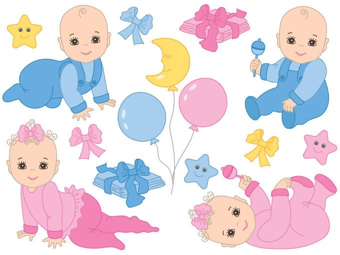 70% OFF SALE Baby Clipart.