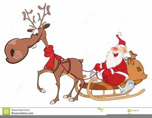 Cute Deer Christmas Clipart.