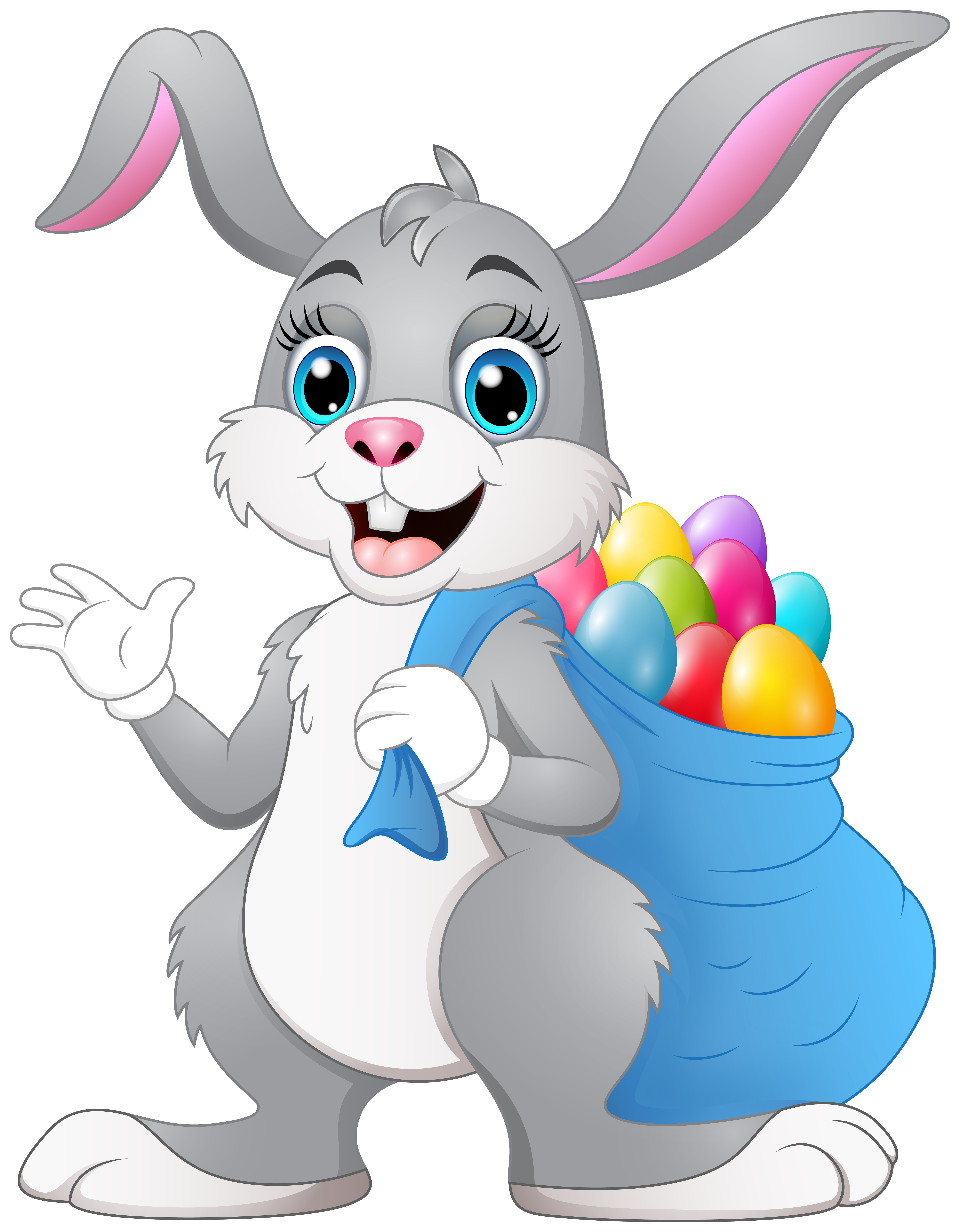 Cute Easter Bunny Transparent Image.