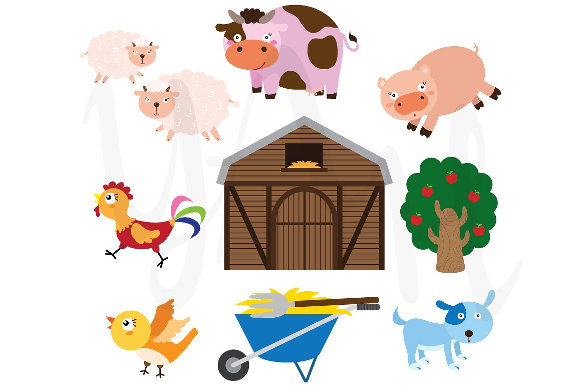 Cute farm animals clipart 3 » Clipart Station.